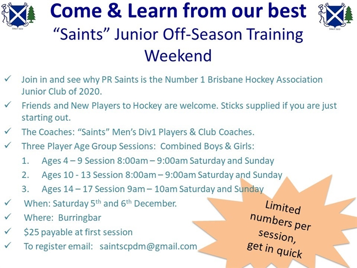 Saints  Dev  Sessions  Dec  5and 6