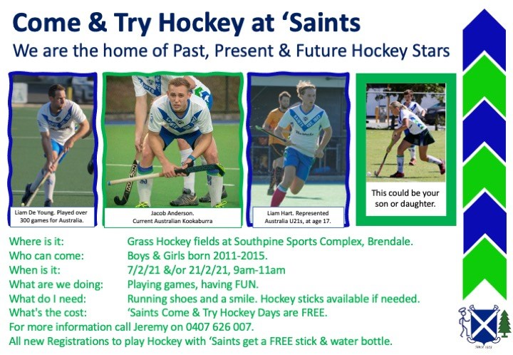 ' Saints  Come &  Try flier  Past, present, future stars, external FINAL
